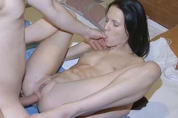 Deep throat blowjob, pussy and ass fuck